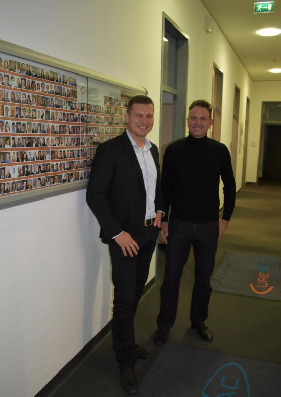 Mario mit Dr. Ingmar Hoerr von CureVac