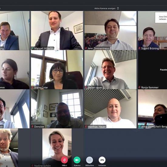 Virtuelle Ausschusssitzung via Videokonferenz